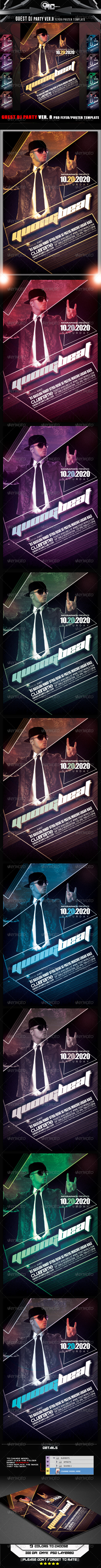 GraphicRiver Guest DJ Party Ver.8 Flyer Poster Template 8340283
