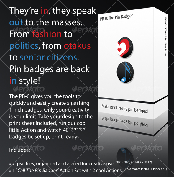 GraphicRiver The PB-0 The Pin Badger 35491