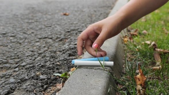 Girl Put Down Chalk