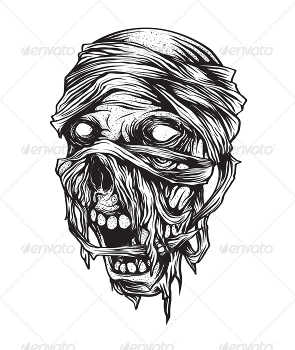 GraphicRiver Ancient Mummy Head 8340326