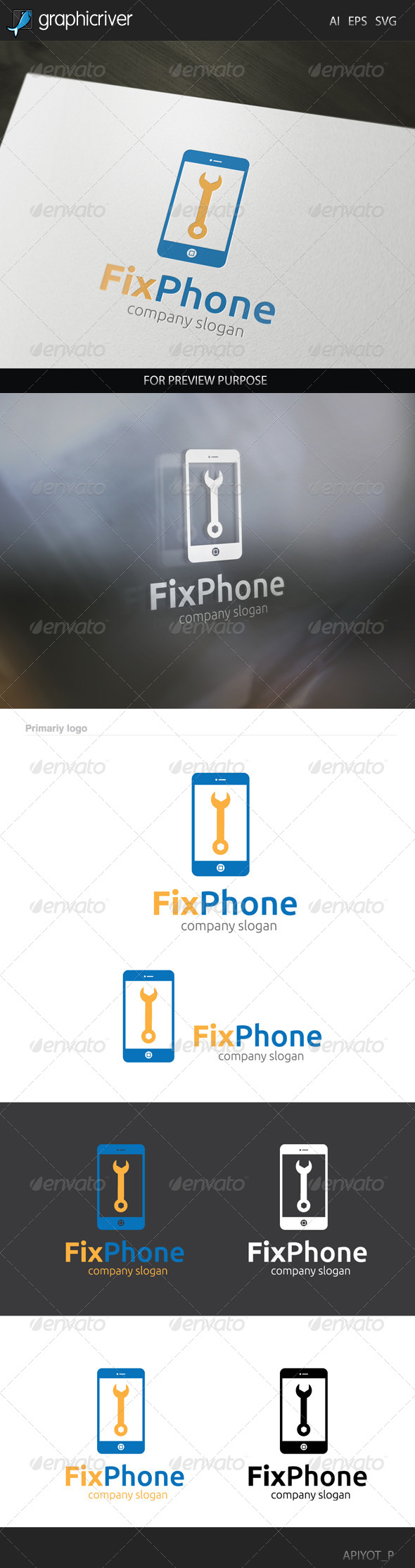 GraphicRiver Fix Phone Logo 8340472