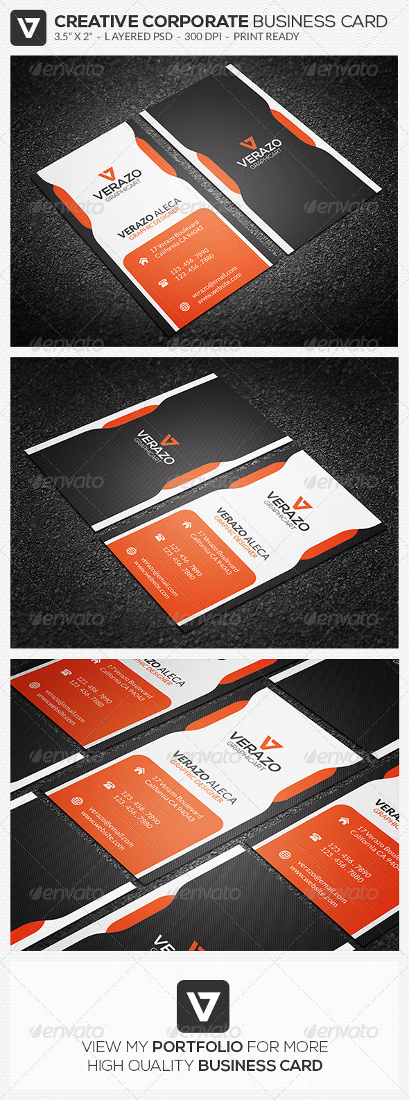 GraphicRiver Creative Corporate Business Card 50 8340541