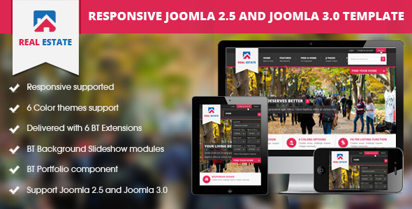 BT Real Estate - Responsive Joomla Template