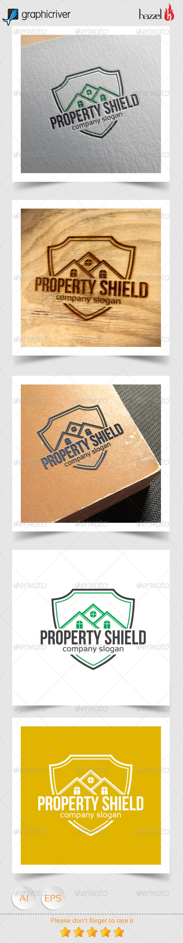 GraphicRiver Property Shield Logo 8340657