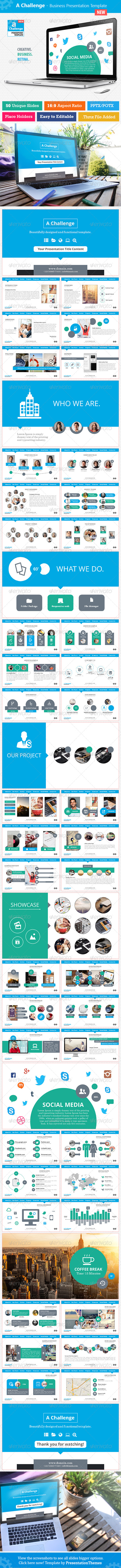 GraphicRiver A Challenge Business Presentation Template 8340669