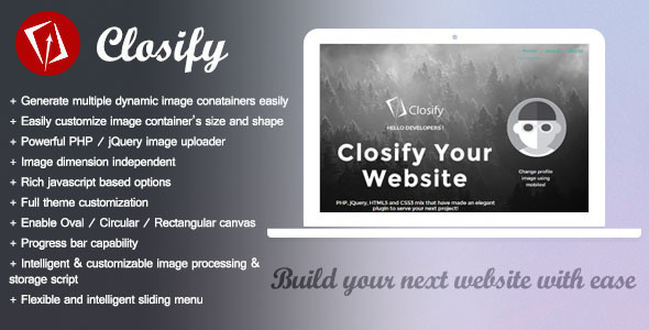 CodeCanyon Closify Powerful & Flexible Image Uploader 8292742