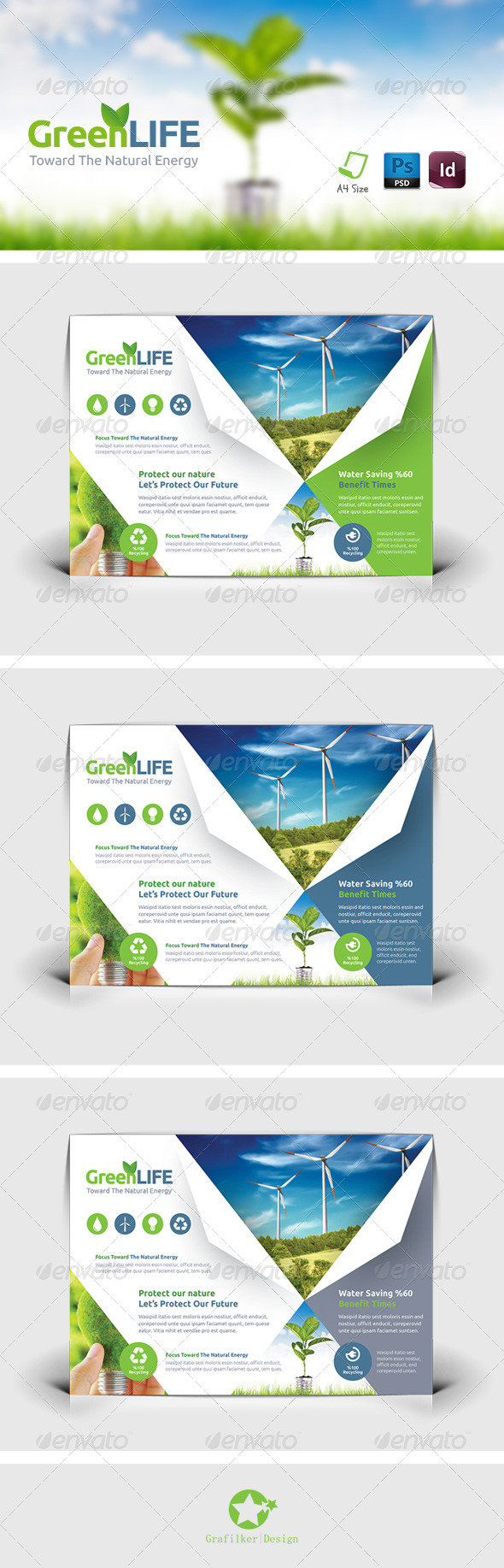 GraphicRiver Green Energy Flyer Templates 8342913