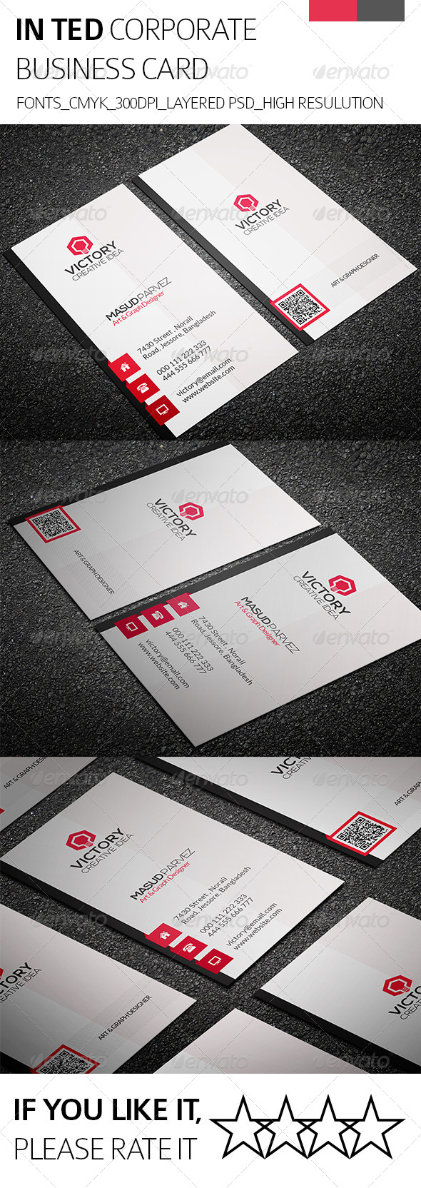GraphicRiver Inted & Corporate Business Card 8343342