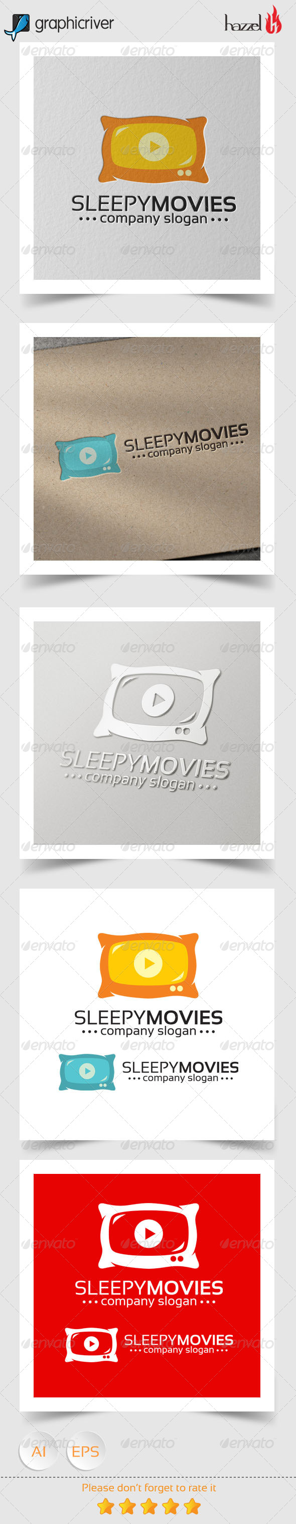 GraphicRiver Sleepy Movies Logo 8343381