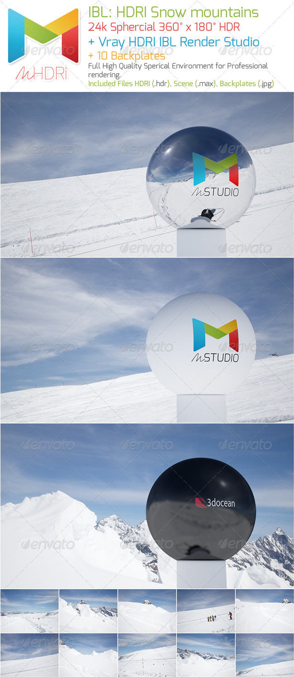 IBL - HDRI : Snow mounts - 3DOcean Item for Sale