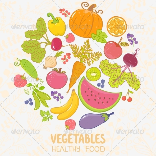 GraphicRiver Vegetables and Fruit 8343432