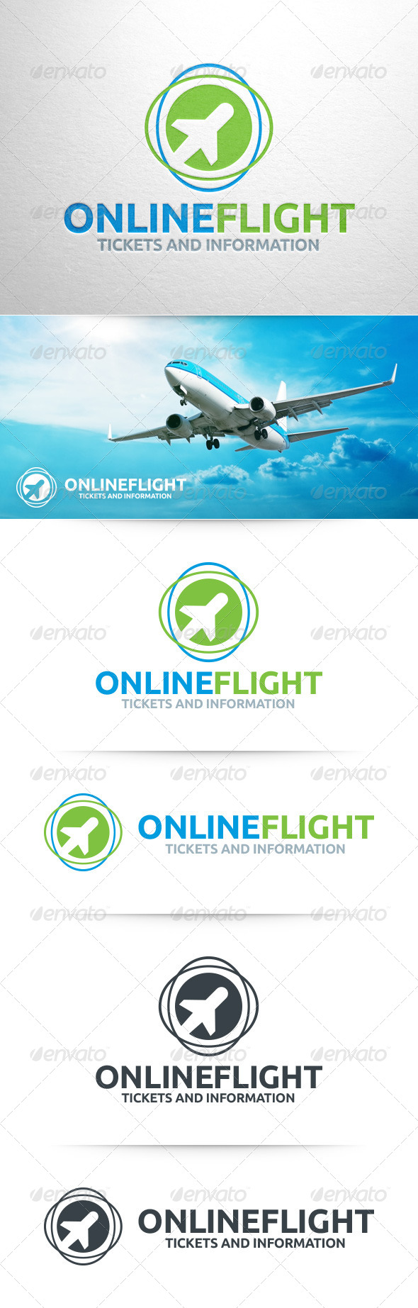 GraphicRiver Online Flight Logo Template 8343451