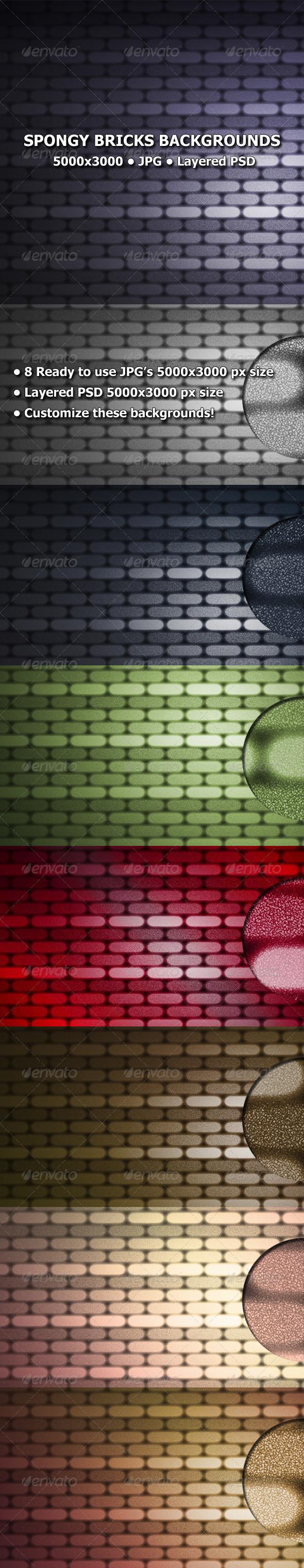 GraphicRiver Spongy Bricks Backgrounds 8343653