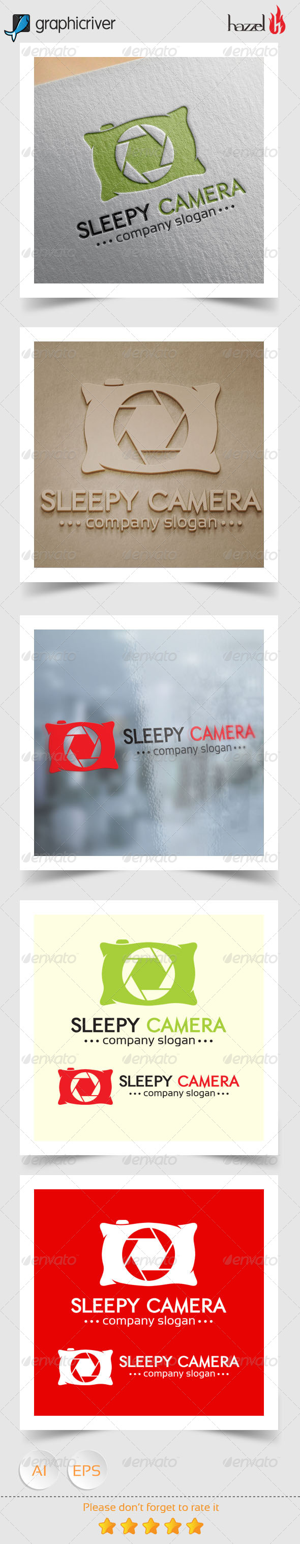 GraphicRiver Sleepy Camera Logo 8343662
