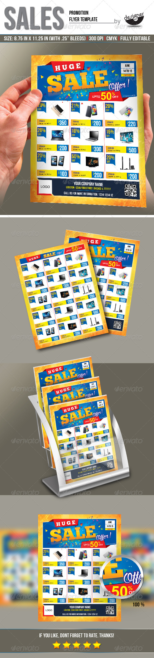 GraphicRiver Sales Promotion Flyer Template 8333281