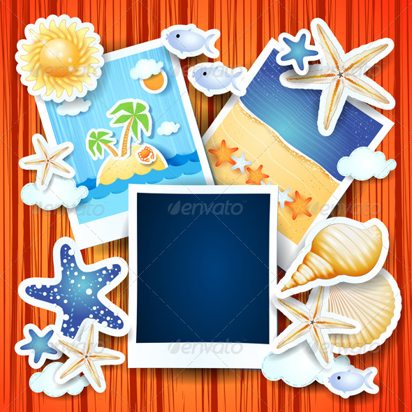 GraphicRiver Holidays Background with Photo Frames 8343715