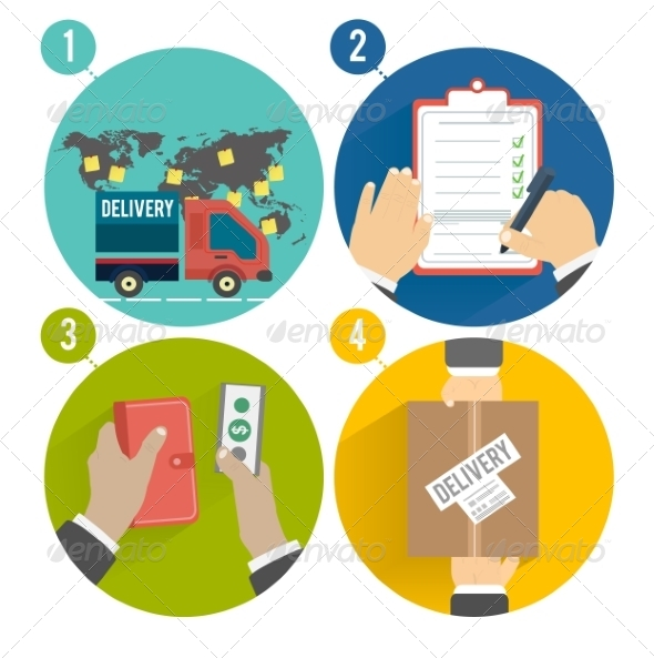GraphicRiver Internet Shopping Purchasing and Delivery 8343765