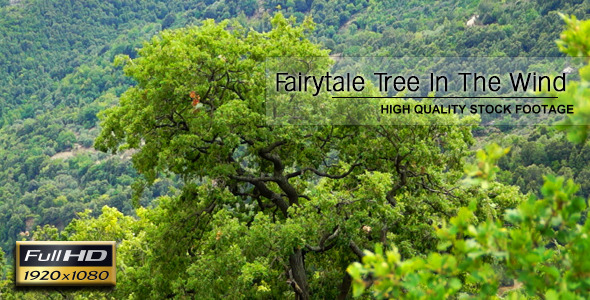 VideoHive Fairytale Tree In The Wind 8343772