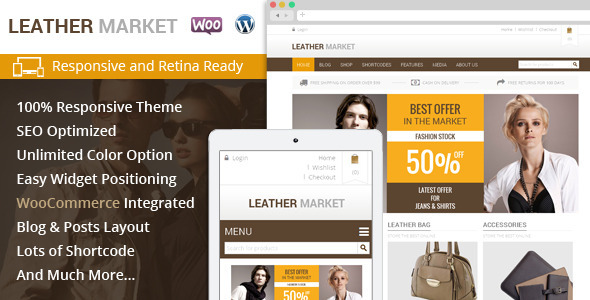Leather Market - WooCommerce Responsive Theme - Fashion Retail