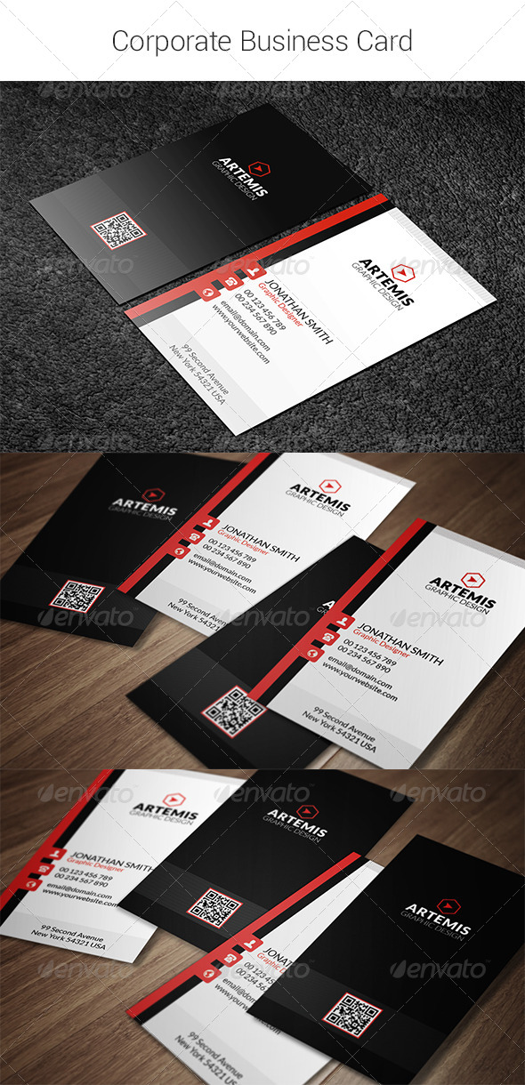 GraphicRiver Corporate Business Card 8343822