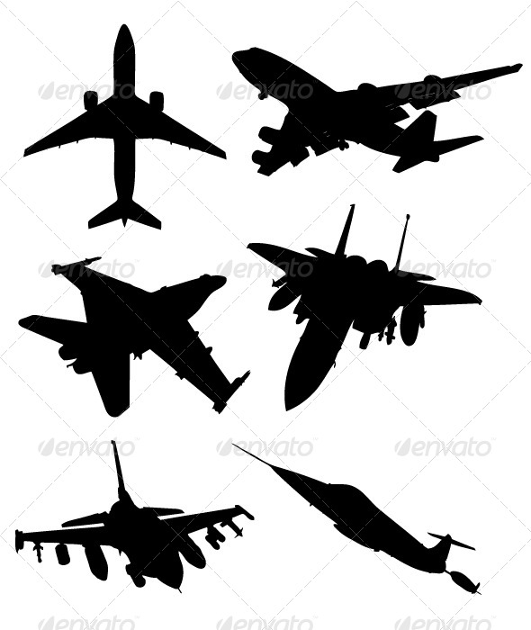GraphicRiver Aircraft Silhouettes 8343837
