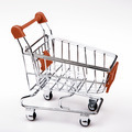 Shopping cart on white background - PhotoDune Item for Sale