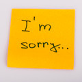 Sticky Note Message isolated on white - I am sorry - PhotoDune Item for Sale