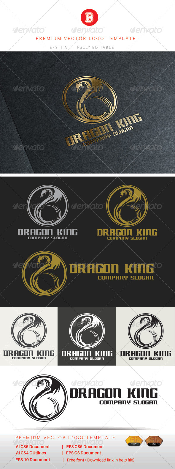 GraphicRiver Dragon King 8343874