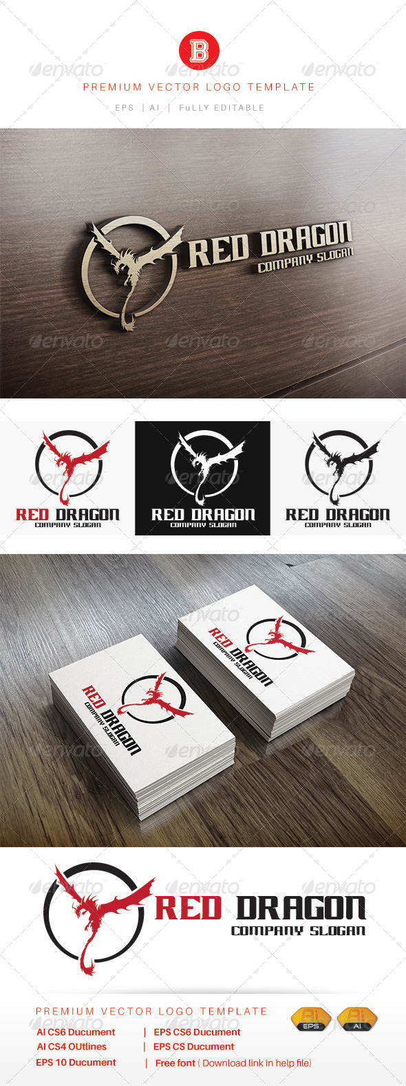 GraphicRiver Red Dragon 8343878