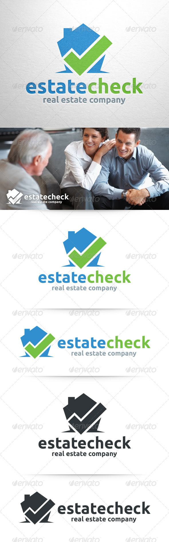 GraphicRiver Estate Check Logo Template 8343900