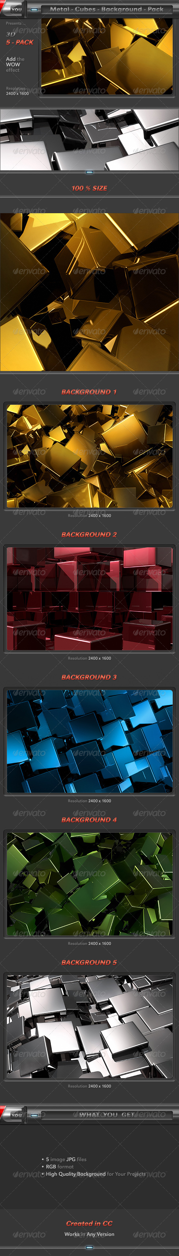 GraphicRiver Metal Cubes Pack 8343950