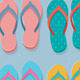 Set of Colorful Flip Flops - GraphicRiver Item for Sale