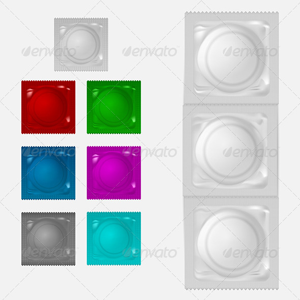 GraphicRiver Illustration of Condoms 8344036
