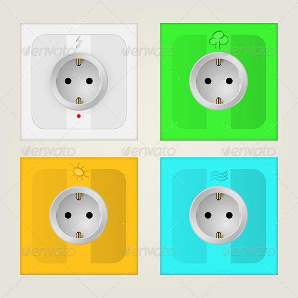 GraphicRiver Eco Sockets 8344053