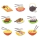 Sushi and Rolls Japanese Cuisine Set - GraphicRiver Item for Sale