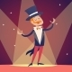 Circus Show Host in Suit with Cylinder Hat - GraphicRiver Item for Sale