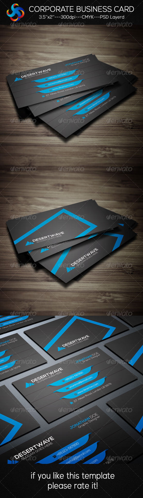 GraphicRiver Creative Corporate Business Card 8344080