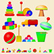 Illustration of Children Toys - GraphicRiver Item for Sale