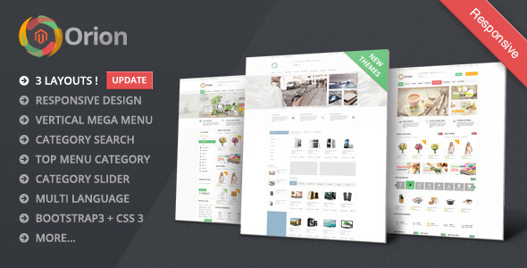 Orion - Mega Shop Responsive Magento Theme - Shopping Magento