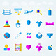 Children Toys Flat Icons  - GraphicRiver Item for Sale