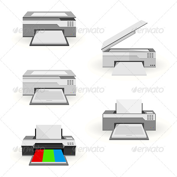 GraphicRiver Flat Illustration of Peripheral 8347676