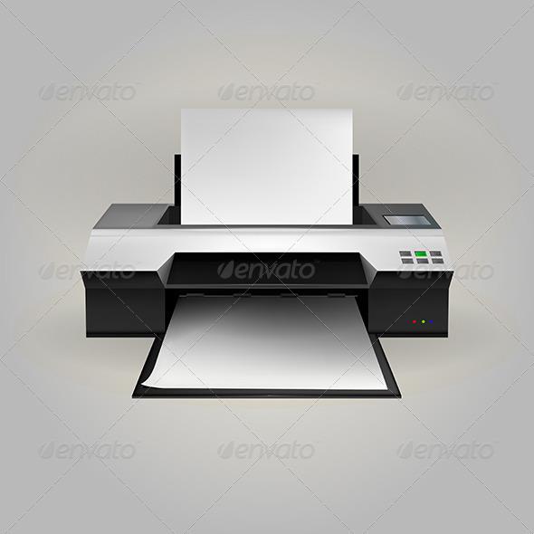 GraphicRiver Illustration of Inkjet Printer 8347852