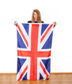 British girl with the Union Jack flag - PhotoDune Item for Sale