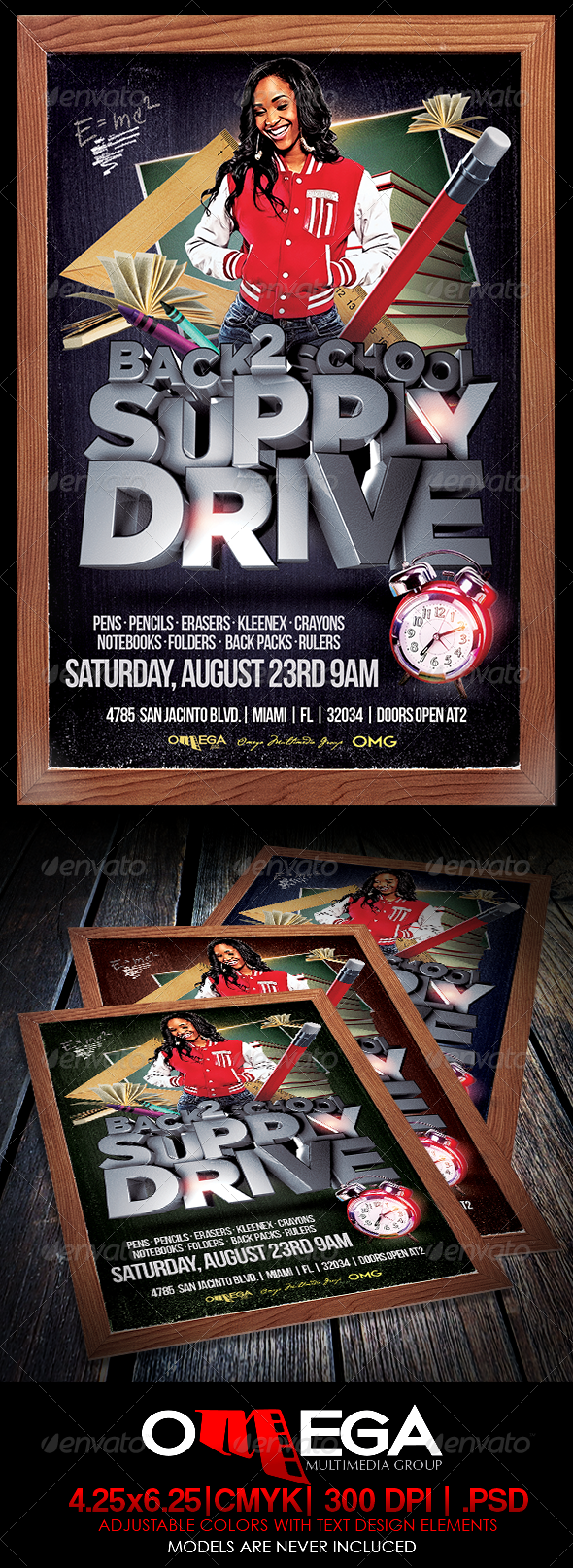 GraphicRiver Back 2 School Supply Drive 8339136
