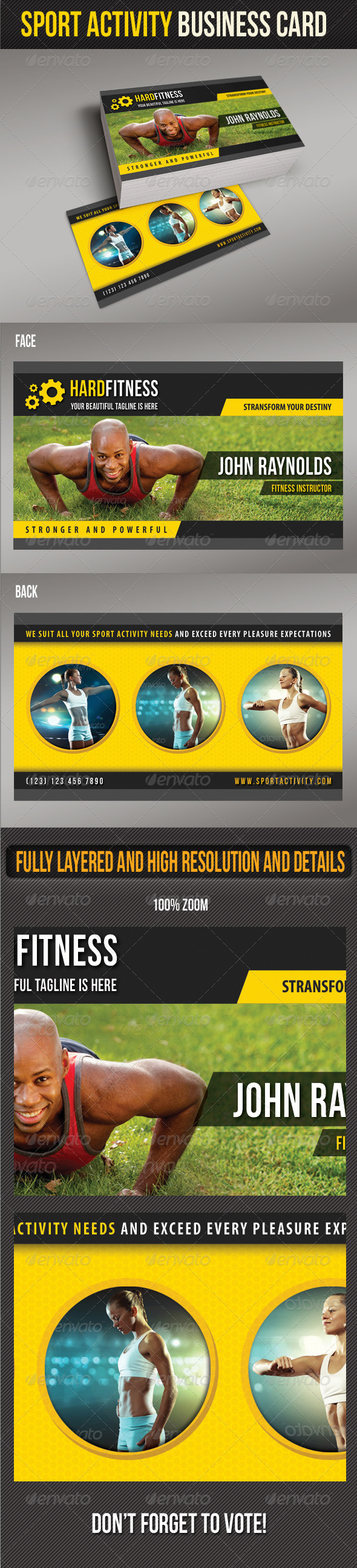 Sport Activity Business Card 02