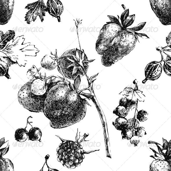 GraphicRiver Berry Seamless Pattern 8348417