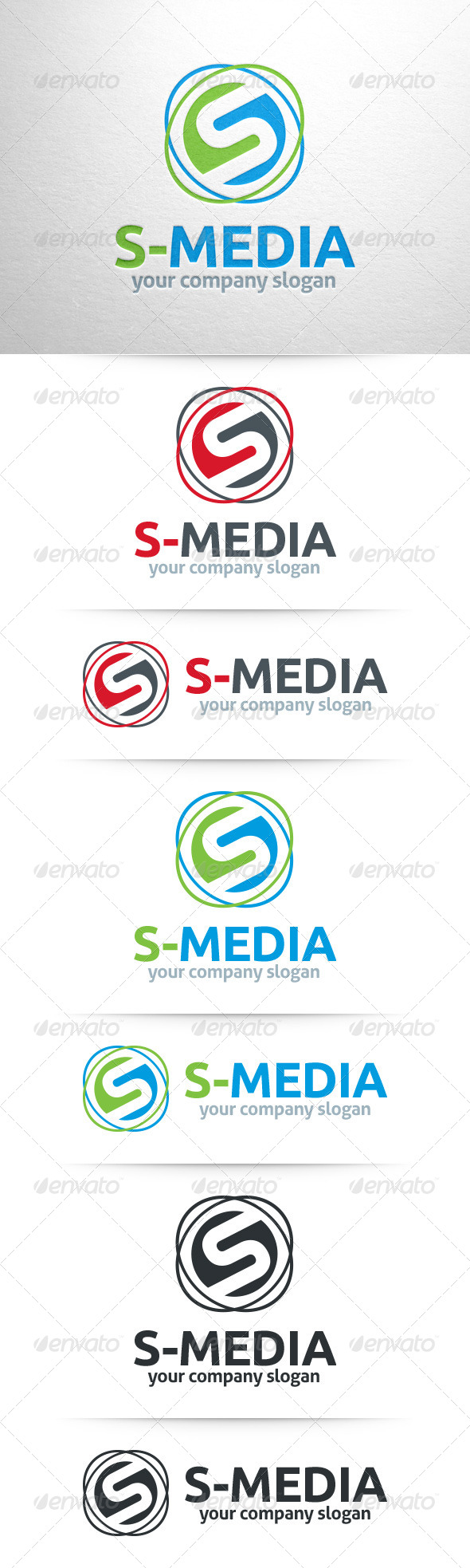 GraphicRiver S-Media Letter S Logo 8348419