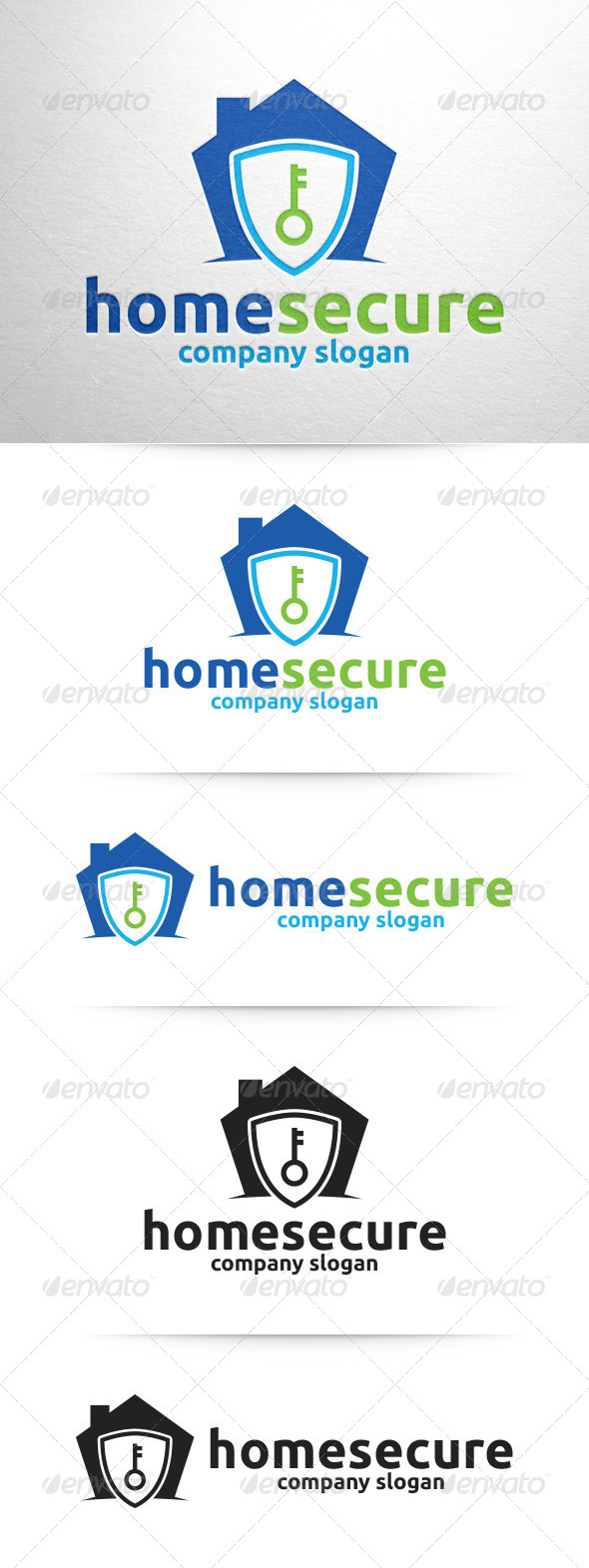 GraphicRiver Home Secure Logo Template 8348482