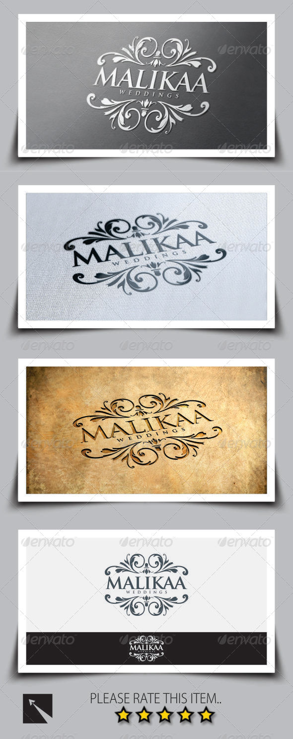 GraphicRiver Malikaa Wedding Logo Template 8348507