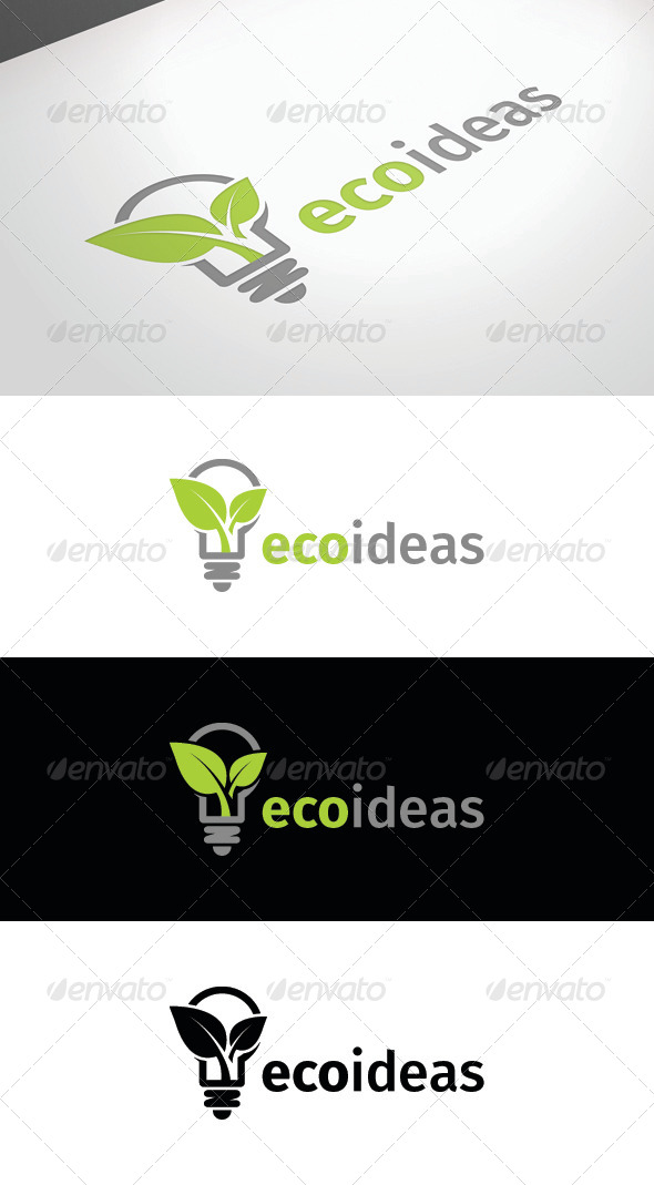 GraphicRiver Eco Ideas Logo Template 8348600